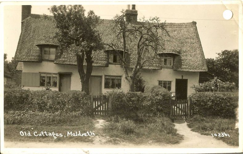 102361 Old Cottages, Meldreth<br> Now 13 North End | Bell's postcard supplied by Ann Handscombe