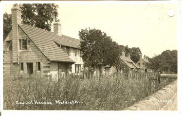 The house in North End where Lewis and Emily Harrup lived | Bell's Postcard from the 1920s, supplied by Ann Handscombe