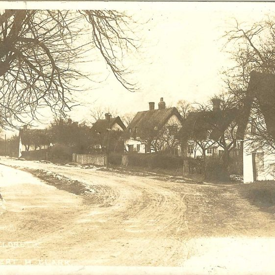View along North End, looking towards the stocks.  Postmarked 1905. | Robert H Clark postcard supplied by Brian Clarke