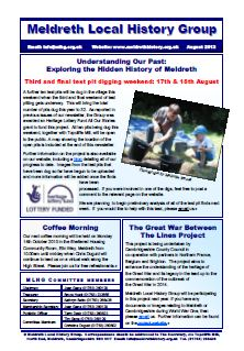 The August 2013 issue of our newsletter