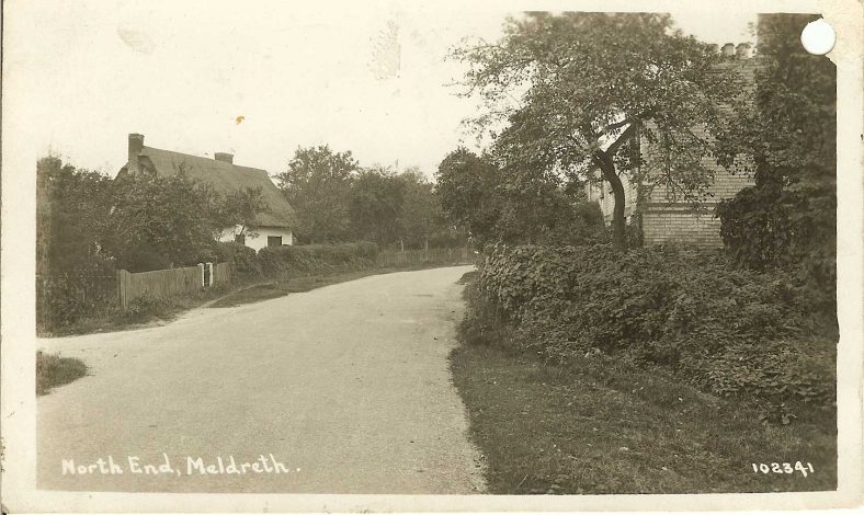102341 North End, Meldreth [Jubilee Cottages] | Bell's postcard supplied by Ann Handscombe