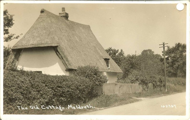102387 The Old Cottage, Meldreth [Applecote Cottage] | Bell's postcard supplied by Ann Handscombe