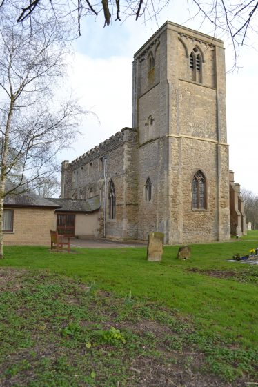 The north side of Holy Trinity Church where Georgina Rodgers was buried | Photograph by Kathryn Betts, March 2011