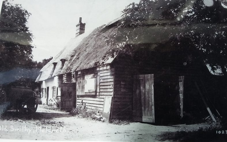 <b>North End: The Old Smithy</b>   Bell's Postcard, 1920s