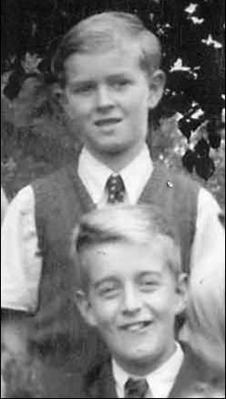 Brian Pepper (top) and Peter Oakman at Meldreth School in 1948 | Photo supplied by Brian Pepper