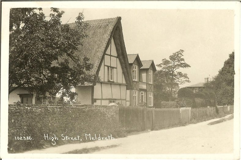 102386 High Street, Meldreth [The Old Bell Public House] | Bell's postcard supplied by Brian Clarke