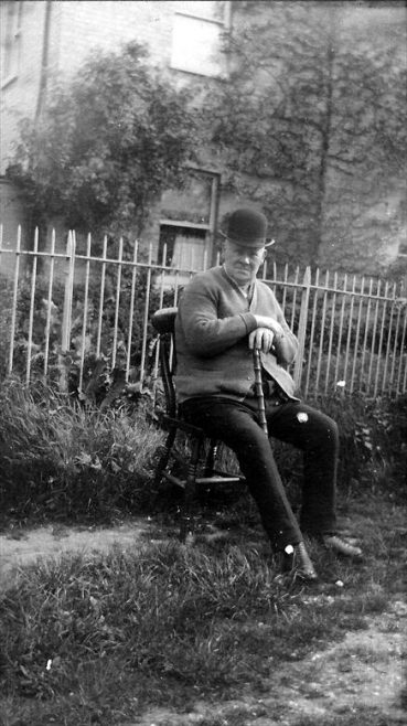 William Lambeth, pictured in the garden of Orchard Dene, c. 1920 | Photograph supplied by Kath Lambert