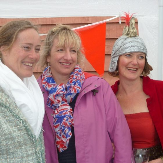 Serena, Helen and Philippa, the party organisers | Photograph by Tim Gane