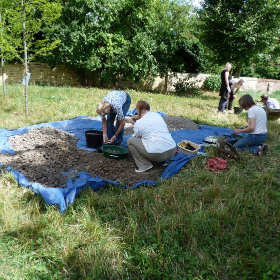 Sieving the soil | Photograph supplied by Keith Humphreys