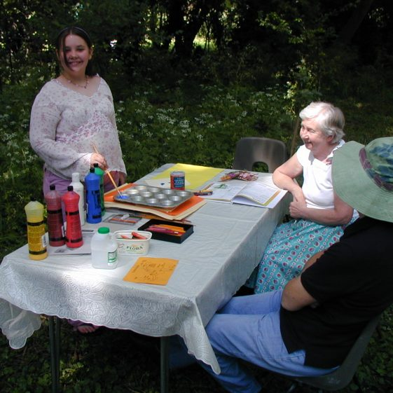 Meldreth Art Group helping  to create paintings of the wood | Tim Gane
