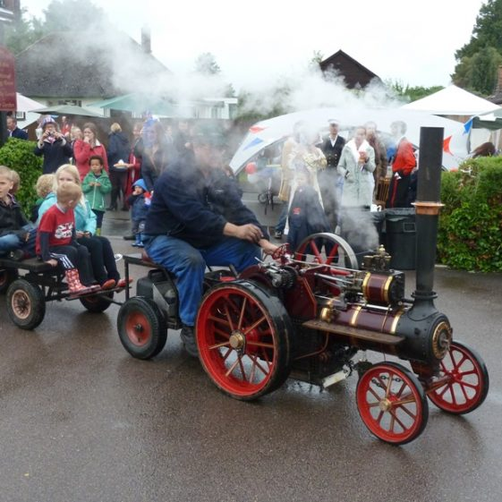 The steam engine, driven by Richard Tomlinson | Photograph by Tim Gane