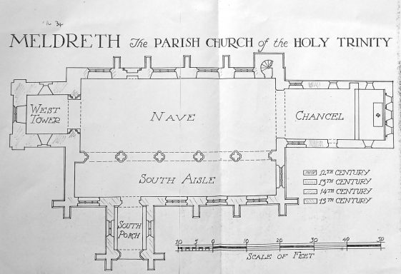 Holy Trinity, Meldreth: Plan & Exterior Views