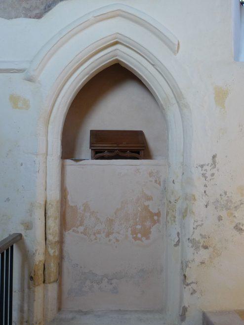 Chancel, blocked 14thc door to former vestry | Peter Draper