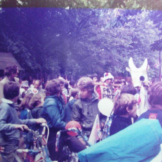 Crowds at the stocks | W.I Scrapbook 1977