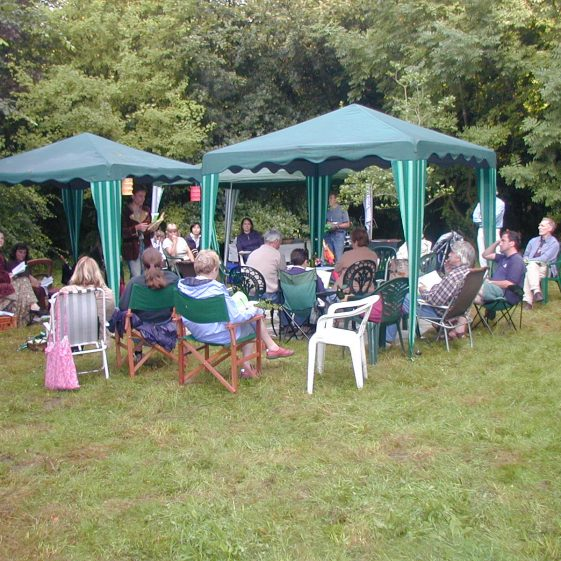 The music and poetry evening in the meadow in Melwood | Tim Gane