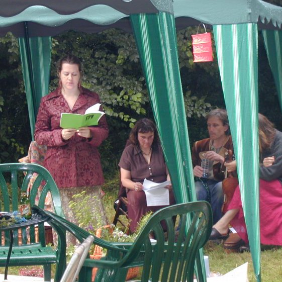One of the poets reading her poetry during the event in Melwood | Tim Gane