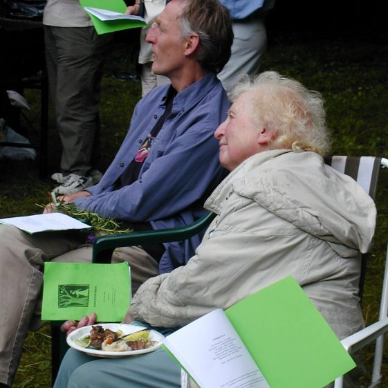 Margaret Hunter and Ian Mcphee listen attentively during the music and poetry evening in Melwood | Tim Gane