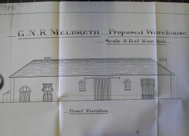 Plan dated 1901 of the Proposed Warehouse to be built in the Meldreth Goods Yard. | Chelmsford Record Office