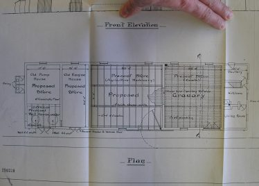 Plan dated 1901 of the Proposed Warehouse to be built in the Meldreth Goods Yard showing the interior layout. | Chelmsford Record Office