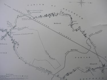 Map Showing the Proposed Line of the Conduits to carry Water and Gas to Meldreth, Melbourn and Shepreth | Cambridgeshire Archives