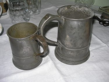 Pint & Quart Tankards from The Dumb Flea | Courtesy of Joan Rayner