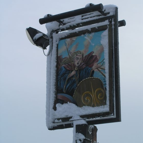 The Old Pub Sign replaced in March 2012   Tim Gane