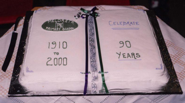 The school's birthday cake   Photograph courtesy of Meldreth Primary School