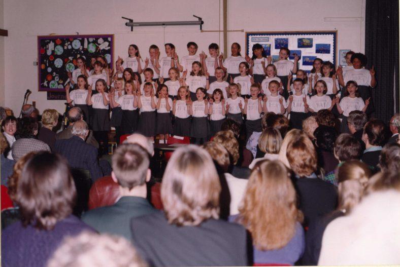 The school choir   Photograph courtesy of Meldreth Primary School