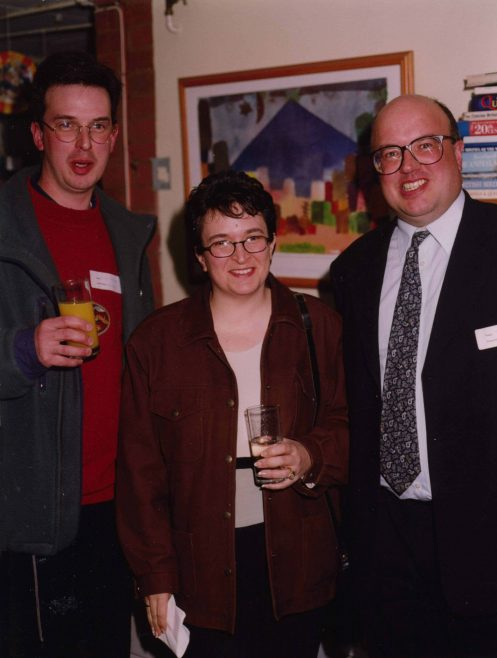 Simon, Amanda and Steven Housden, former pupils   Photograph courtesy of Meldreth Primary School