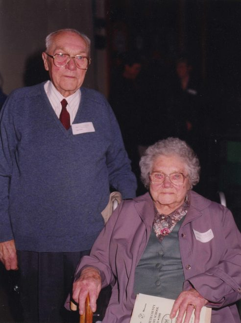 Son Waldock and Elsie Fuller   Photograph courtesy of Meldreth Primary School