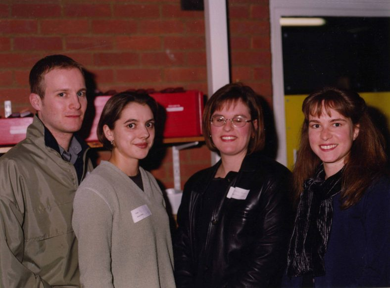 From left to right: Ryan Parsons, Natalie Parsons, Dawn Greaves, Rebecca Lee   Photograph courtesy of Meldreth Primary School