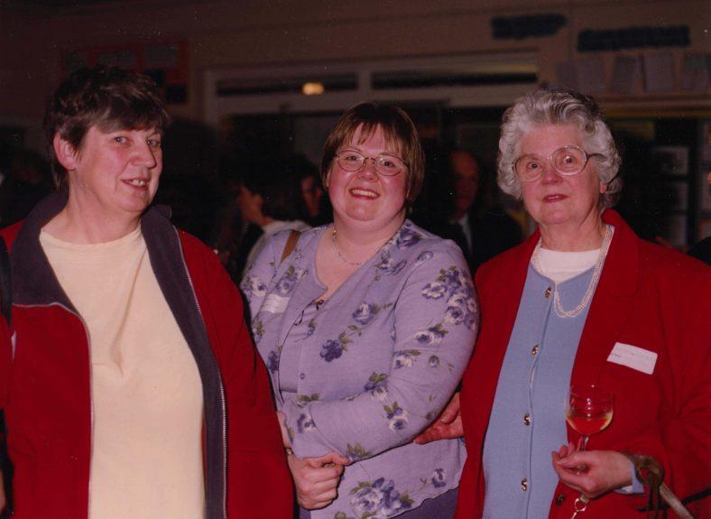 Three generations of one family: Joan Fallon, Caroline Fallon, Gladys Rayner   Photograph courtesy of Meldreth Primary School