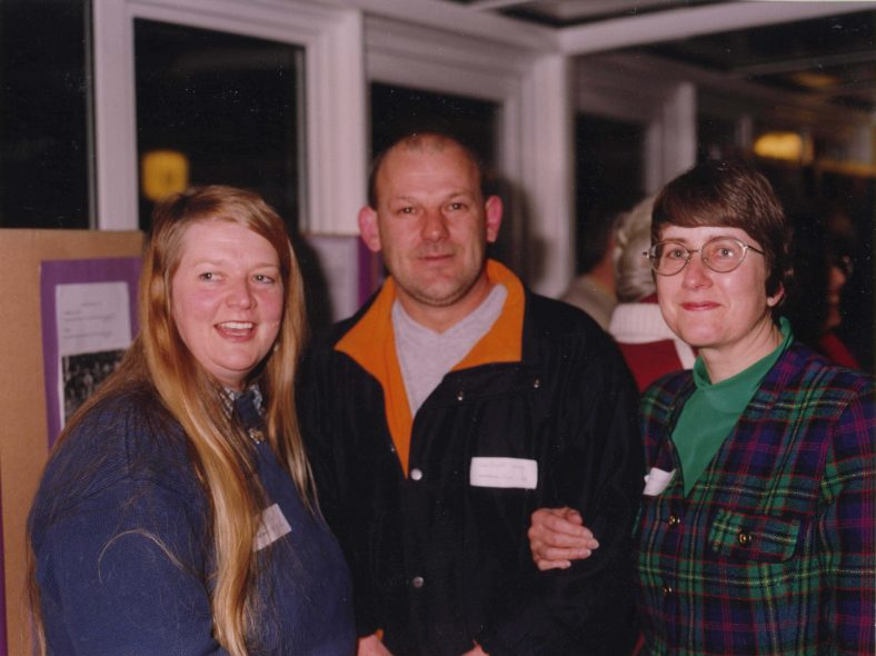 From left to right: Kathy Hales, Geoffrey Yates, Julie Sangster (nee Handscombe)   Photograph courtesy of Meldreth Primary School