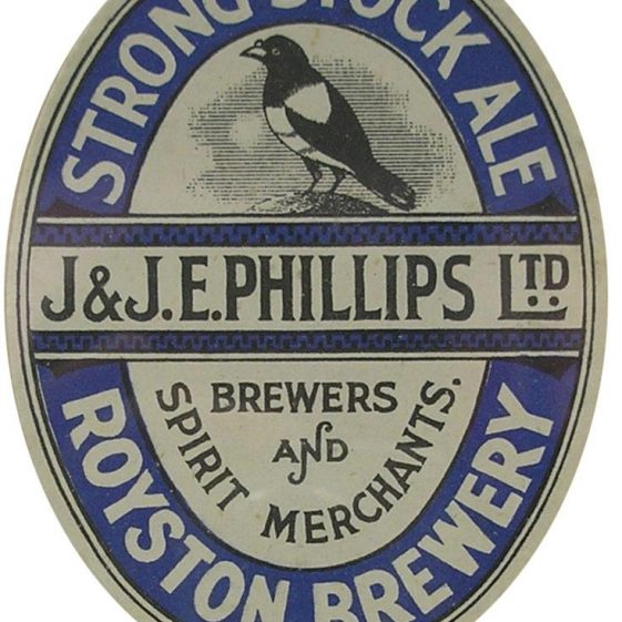 One of the beers on sale in the British Queen in the 1940s   Royston Museum