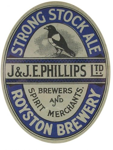 Phillips Brewery Label | Courtesy of Royston Museum