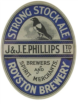 The Queen Adelaide sold this particular ale. Its actual strength is not known but may have contributed to Joshua Lovely's condition | Phillips Brewery Label Courtesy of Royston Museum