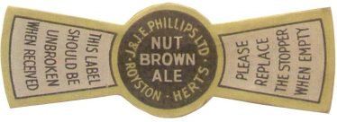 Phillips of Royston Bottle Top Label | Phot Courtesy of Royston Museum