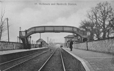 Meldreth Station ~1905 showing the old footbridge | Brian Clarke