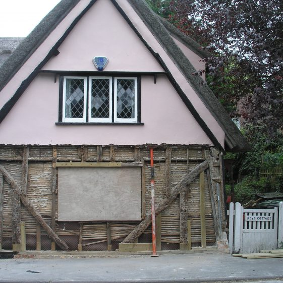 Keys Cottage, High Street, under repair | Tim Gane