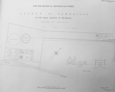 Plan Showing the Proposed Layout of the Gas Works at Hope Folly | Cambridgeshire Archives