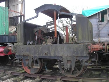Puffing Billy 1: 0-4-0 Simplex Petrol Engined Shunter No. 2029 in the East Anglian Railway Museum awaiting restoration | Photo by Tim Gane