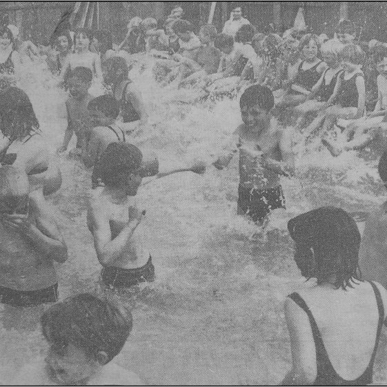 The opening of the pool in 1965 | Photographs courtesy of Meldreth WI