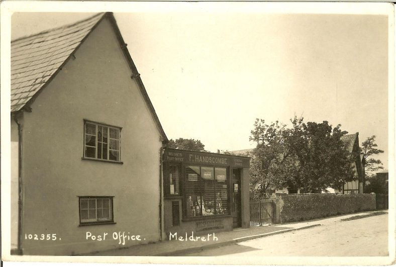 102355 Post Office, Meldreth<br> Postmarked 1927. The single storey extension is believed to have been added in 1924. | Bell's postcard supplied by Brian Clarke
