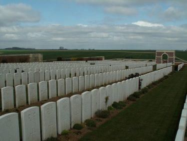 Puchevilliers British Cemetery, near Amiens, France | webmatters.net/cwgc/puchevilliers.htm
