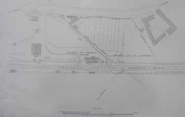 Plan showing the area of land purchased by GNR in 1890 | Photo courtesy of the Chelmsford Record Office