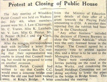 The Closing of The Queen Adelaide | Royston Crow July 20 1956