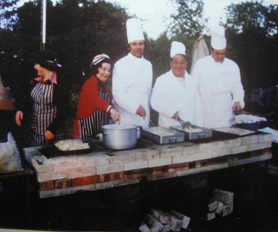 Queen's Silver Jubilee celebrations barbeque on rec. | Meldreth W.I.