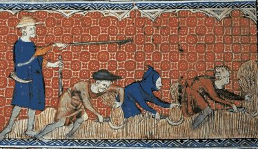 Reeve and Serfs, from Queen Mary Psalter, c.1310 | British Library