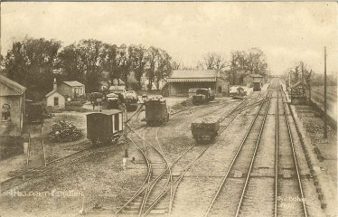 The railway station and goods yard | J Bishop postcard supplied by Brian Clarke