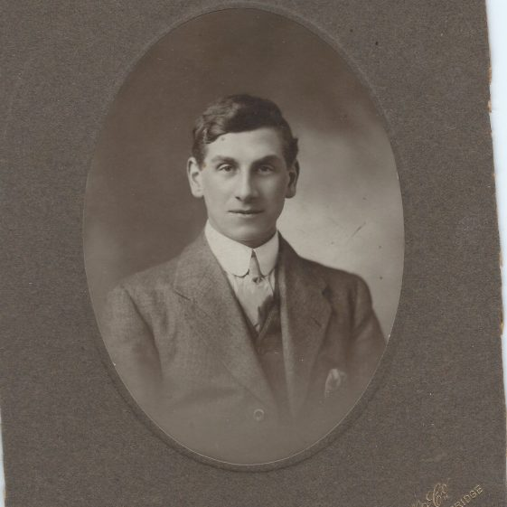 James George Joel King (1890-1960)<br> Photographed c. 1911 | Photograph supplied by Jane Moore (née) Findlay